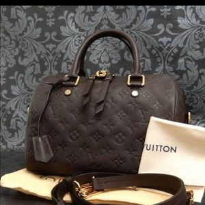 Rise-on Louis Vuitton Monogram Empreinte Speedy 25